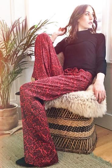 Nancy Dee Aura Wide-legged trousers red.jpg