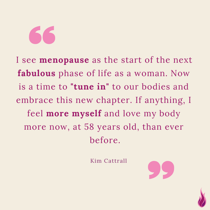 Kim Cattrall menopause