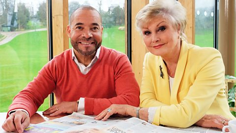 Kevin Duala and Angela Rippon in BBC Health: Truth or Scare