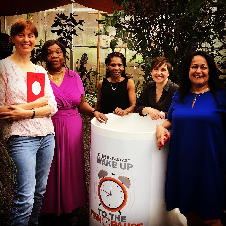 My fabulous Menotivists (from left) Harriet, Grace, Sylvia, Me and Joyce