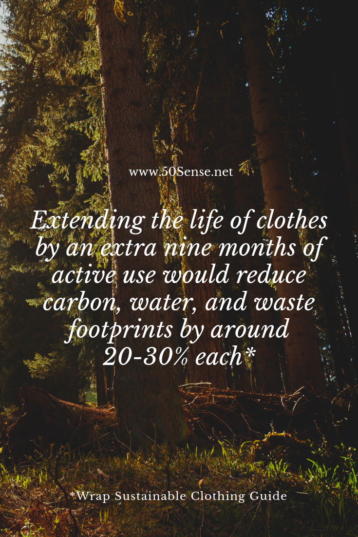 Extending the life of clothes by an extra nine months of active use would reduce carbon, water, and waste footprints by around 20–30% each.(1).png