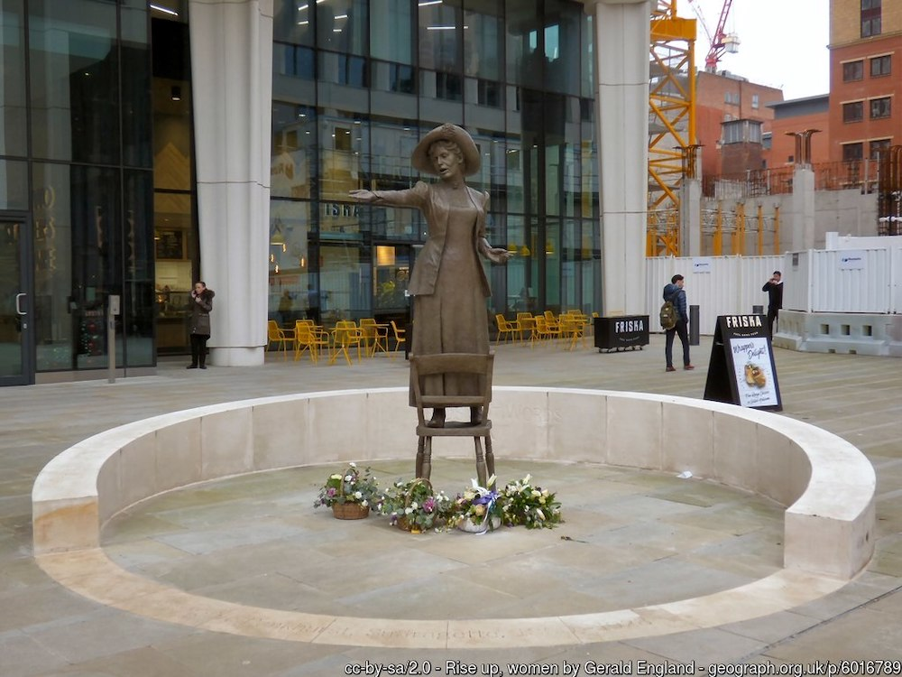 Emmeline Pankhurst – the first female statue in Manchester