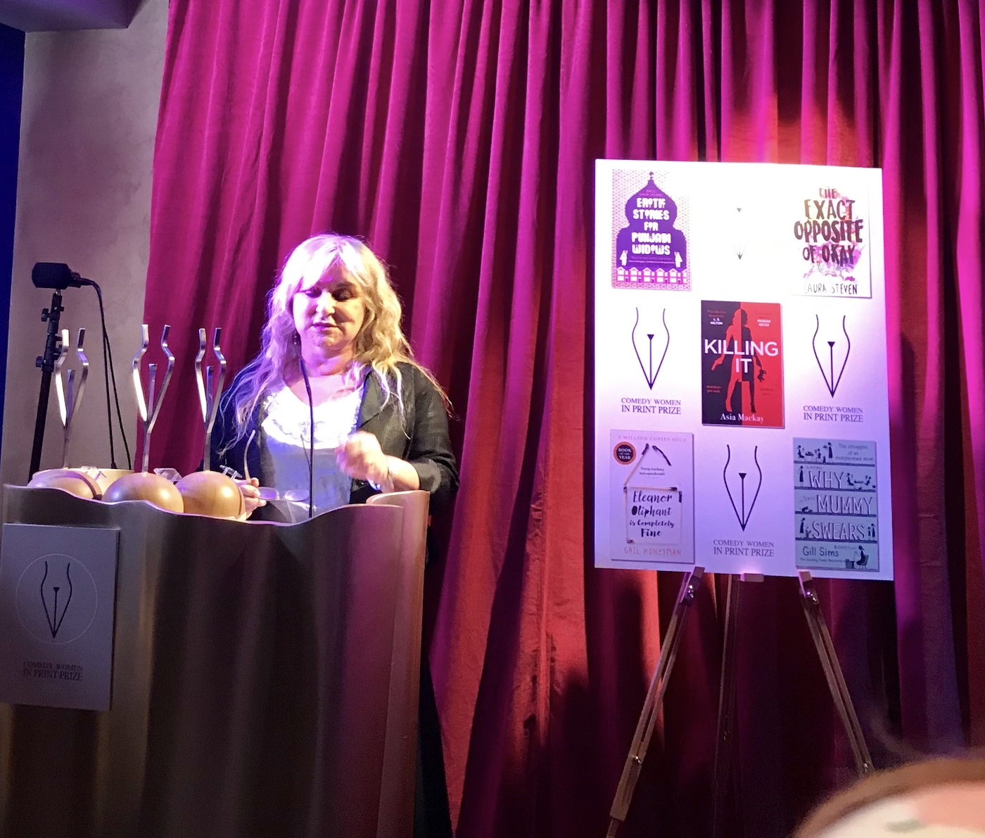 Helen Lederer introduces this year's Comedy Women in Print priza