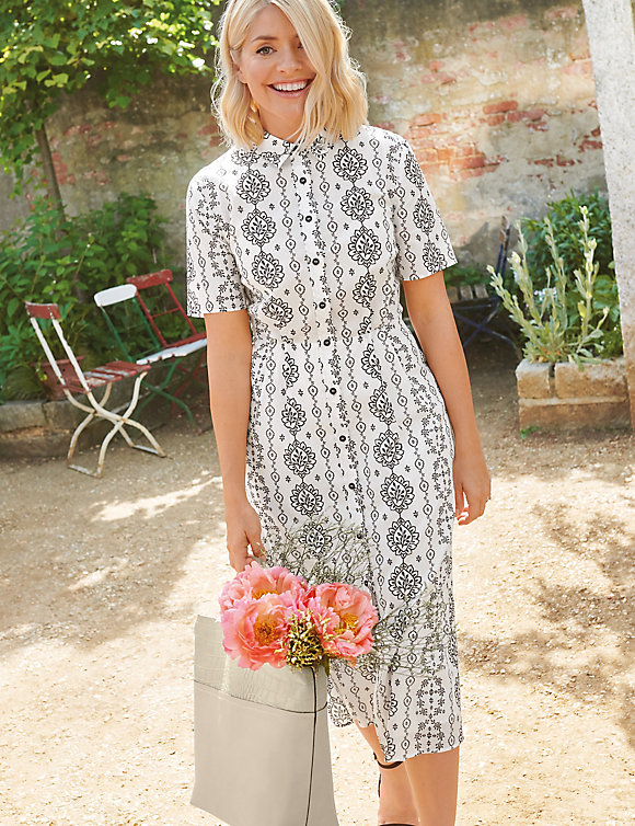 M&S Holly Loves Printed Midi Shirt Dress.jpg