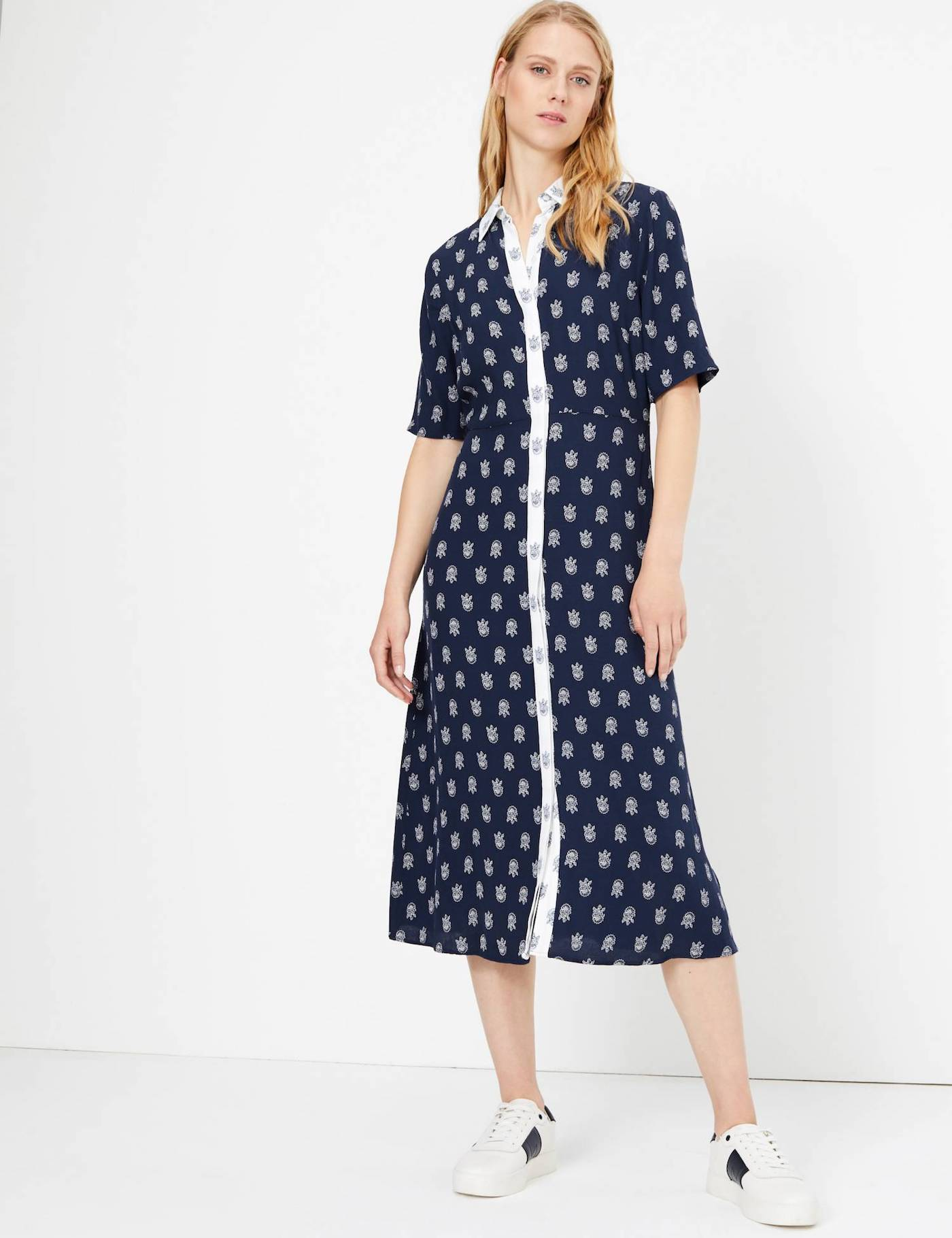 M&S Foulard Printed Midi Shirt Dress.jpg