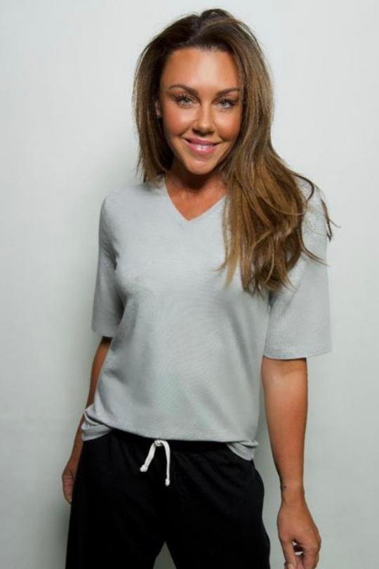 michelle heaton 51 apparel v-neck t-shirt.png