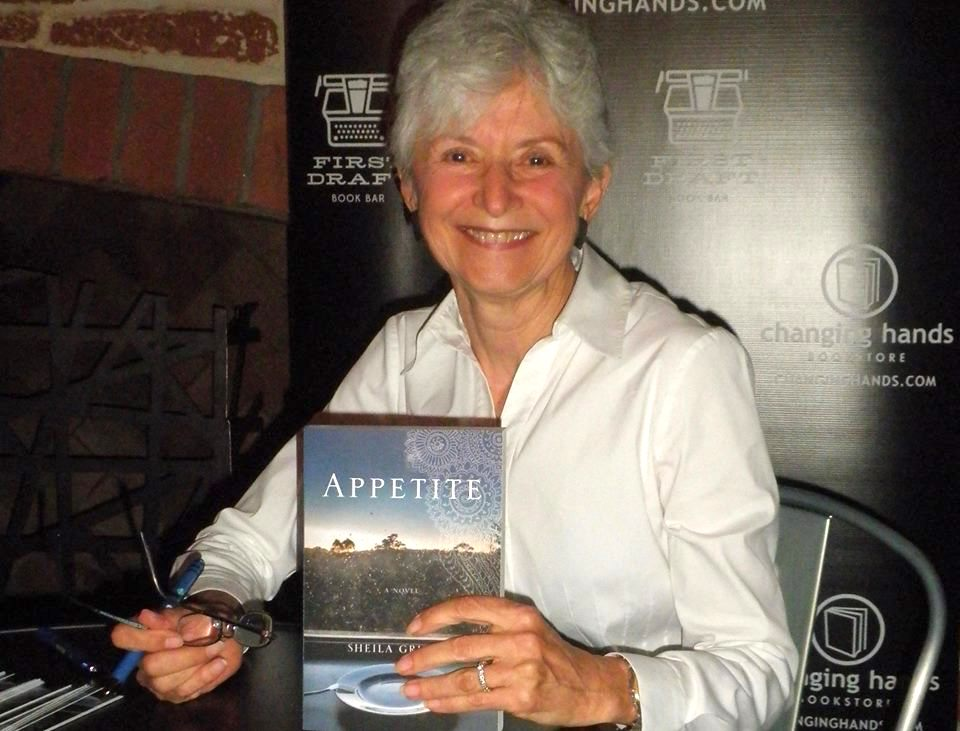Sheila with her first novel Appetite, published in 2016