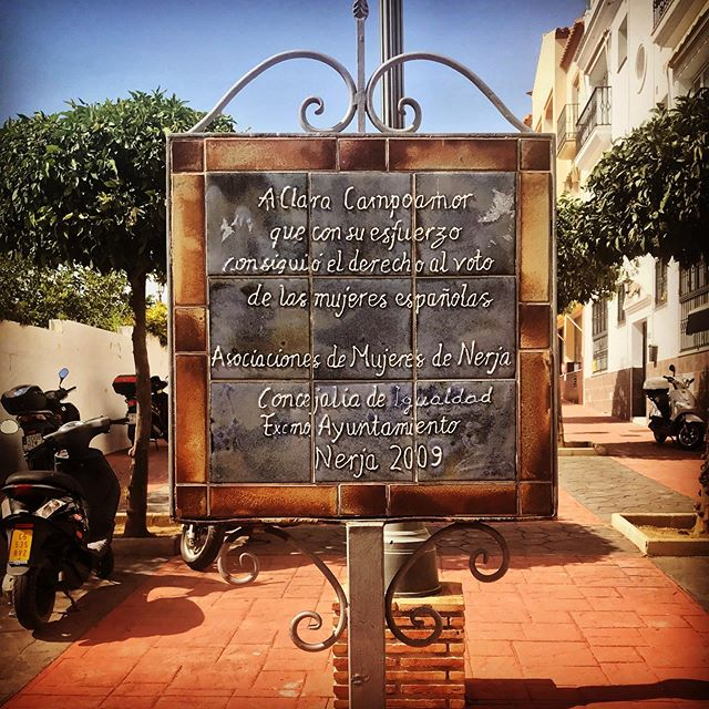A tribute to a Spanish suffragette - can't let that pass * * * * * * * * * * * * #travelingram #travelinglove #travelawesome #relaxing #travelgram #travelblogger #justgoshoot #instagoodmyphoto #instaphoto #andalucia #igerespaña #igerspain #andalusia #travellingthroughtheworld #wanderlust #thehappynow #love #amazing #instalife #españa #suffragette #girlpower #instatravel #igtravelling #womenempowerment