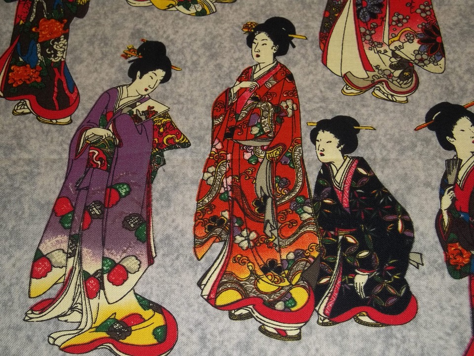 Anonymous painting of geishas