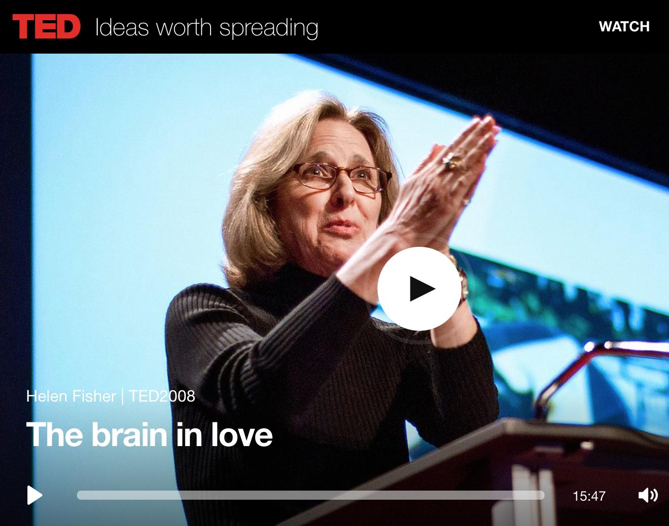 The Brain in Love Helen Fisher
