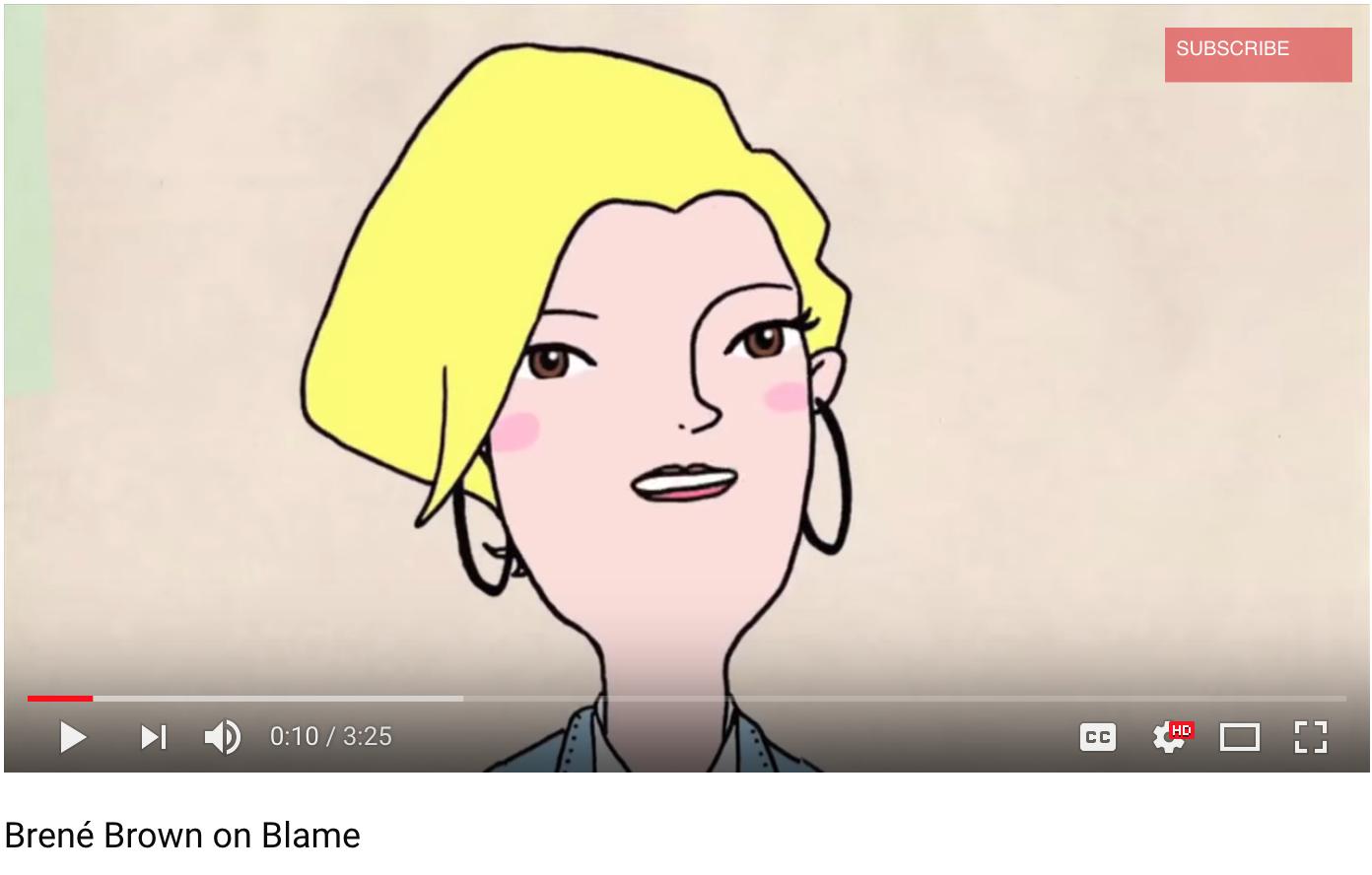 Brene Brown on Blame