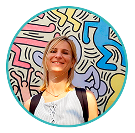 I'm Gosia – the artist behind The Bright Works Project. I'm working with people to fill this world with bright colours.