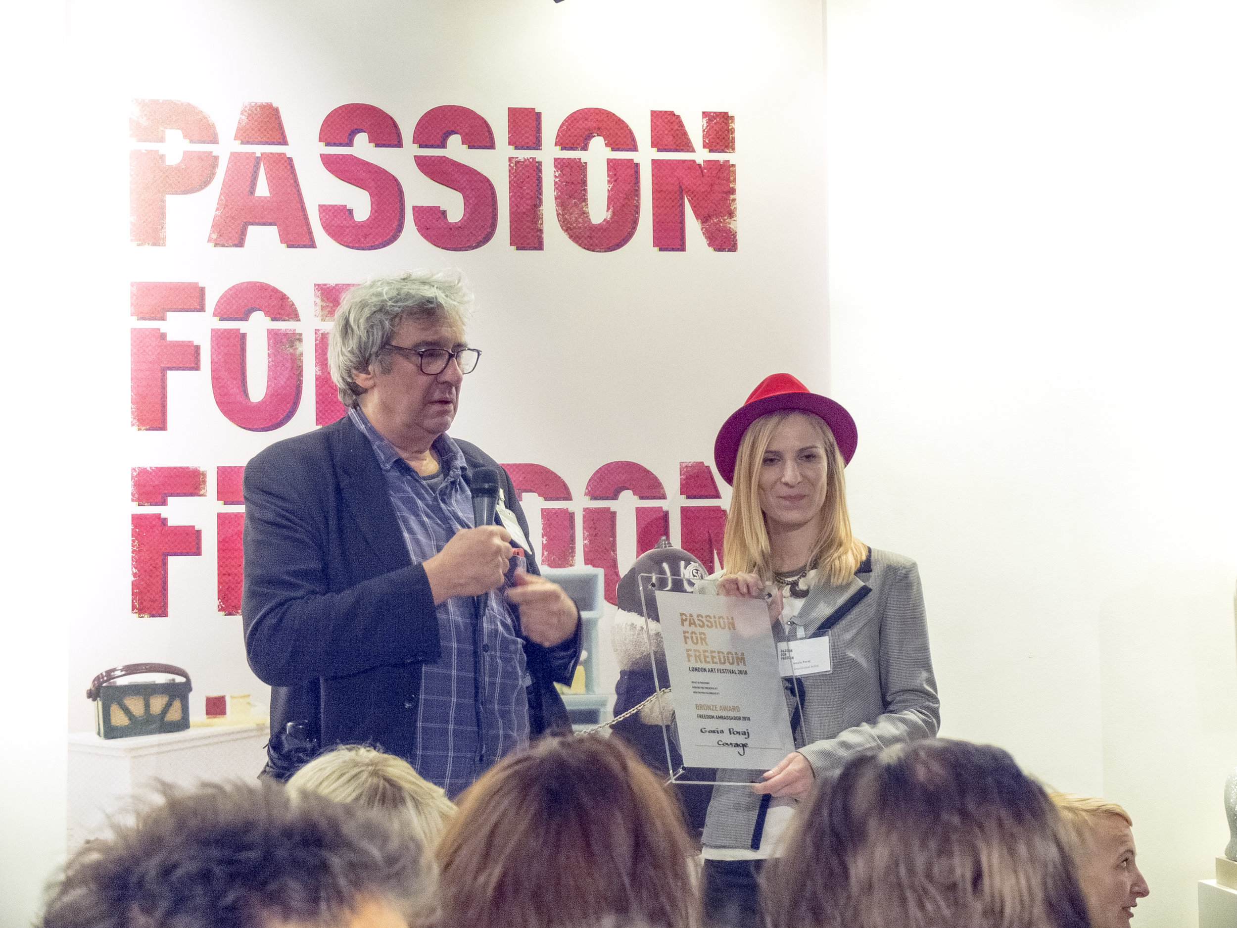 passion for freedom awards, 2018 exhibition london, art award, gosia poraj