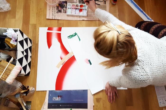 """Gosia Poraj painting """"My Path"""""""