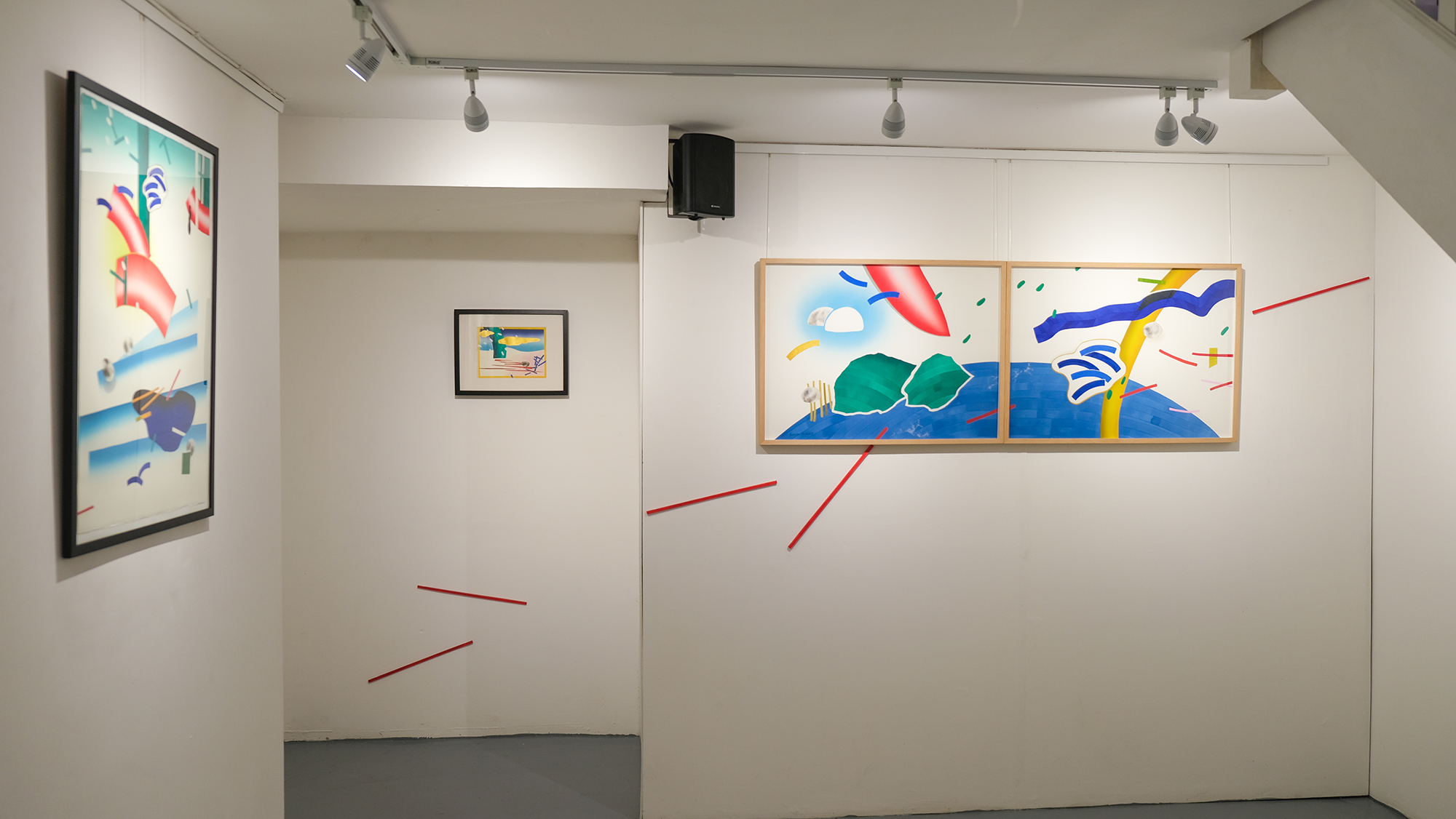 Gallery view, Paintings on paper by Gosia Poraj