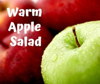 Enjoy this as a side dish. It also makes a delicious breakfast if you add organic chicken sausage (one 10 oz. package). . . 🍎 Makes 4 servings 🍏 .  4 to 5 cups loosely packed spinach or spring mix salad blend🥬 1 lemon, zested and juiced (separated) 1 garlic clove, minced 3 tbsp olive oil Sea salt to taste ¼ cup onion, chopped 4 apples, sliced ½ cup toasted pumpkin seeds (optional: ½ cup crumbled goat cheese) . . 🍏 Wash the greens and place in a large bowl  In a small bowl, whisk the garlic into the lemon juice. Stir in the sea salt and lemon zest. Whisk in the olive oil until it's emulsified into a vinaigrette.🍎 Pour half the dressing over the spinach and toss well. . .  In a large skillet over medium heat, heat the olive oil and add in the onion, cooking until translucent and slightly caramelized, about 8 to 10 minutes. Add in the apples, and cook until softened, about 5minutes. . .  Toss in the pumpkin seeds to warm.  Add the onion-apple-pumpkin seed mixture to the spinach. Add the rest of the vinaigrette and more salt if desired. If using, sprinkle the crumbled goat cheese over the top. Serve and enjoy! 🥗