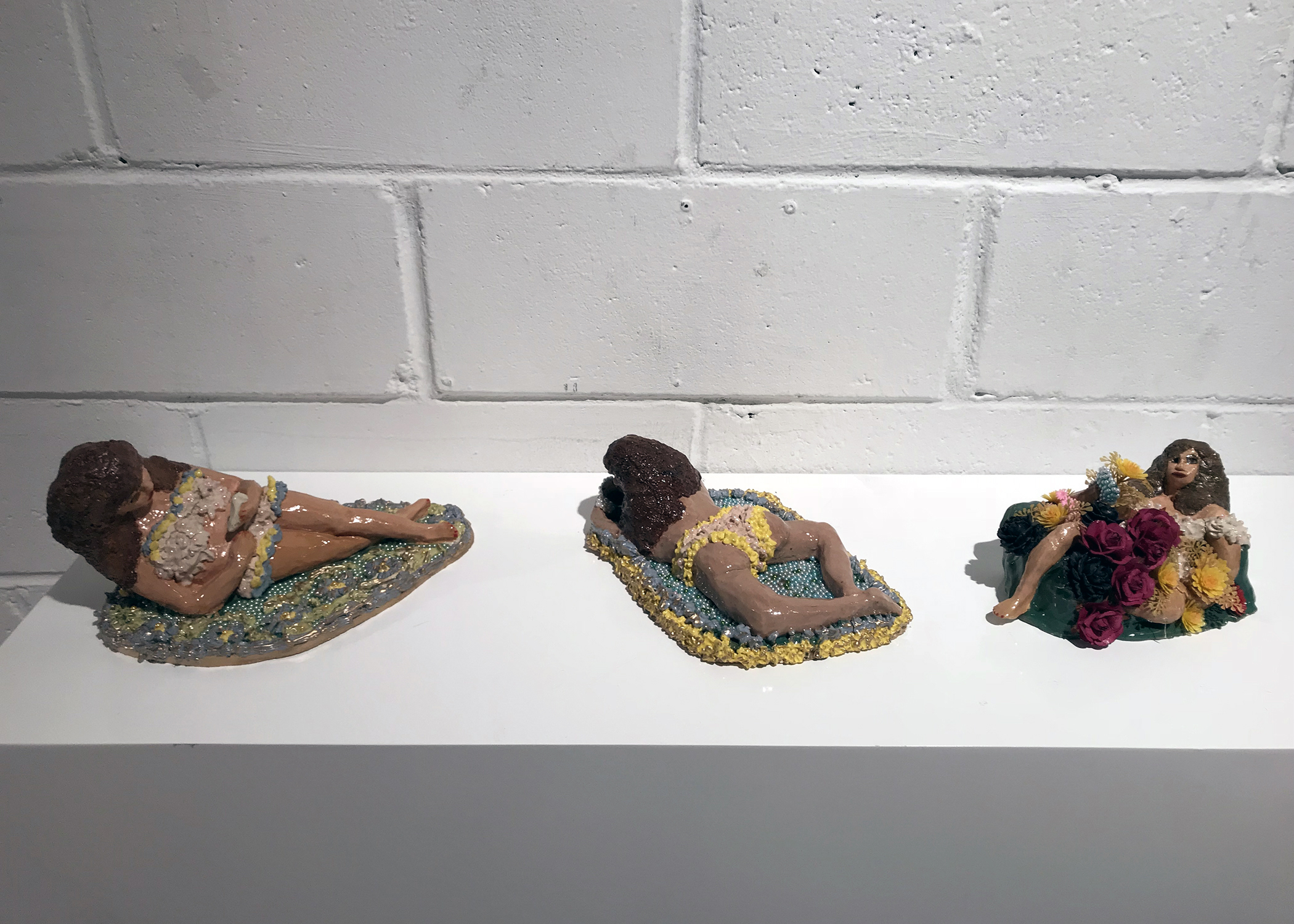 New self-portraits in clay: Pereza De Orion/ Orion's Laziness, Buscando La Perez/ In Search of Laziness, and ¡Como Pasa El Tiempo Buscando La Pereza!/ How Time Flies When In Search for Laziness.