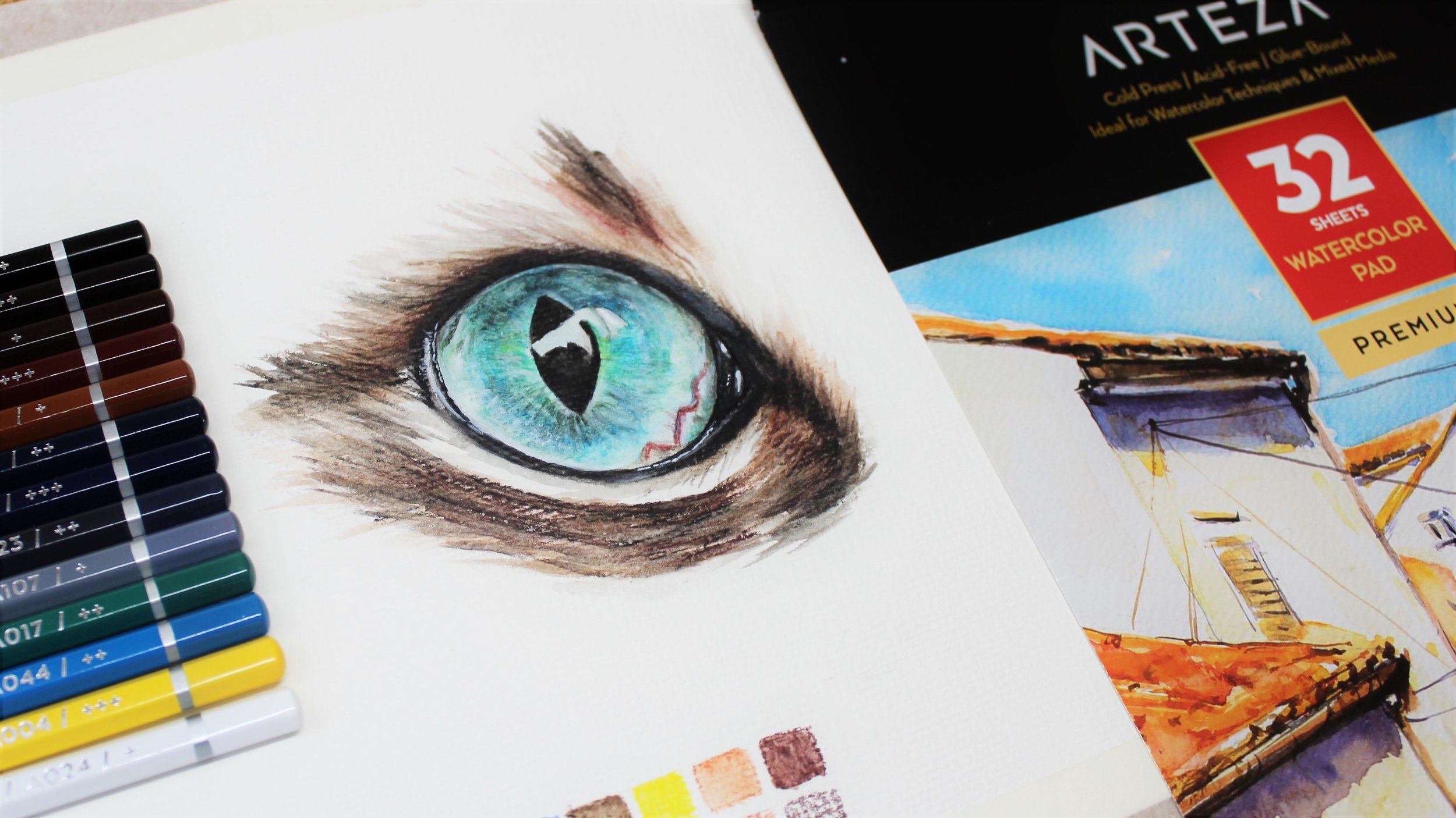 Arteza watercolor pencil review