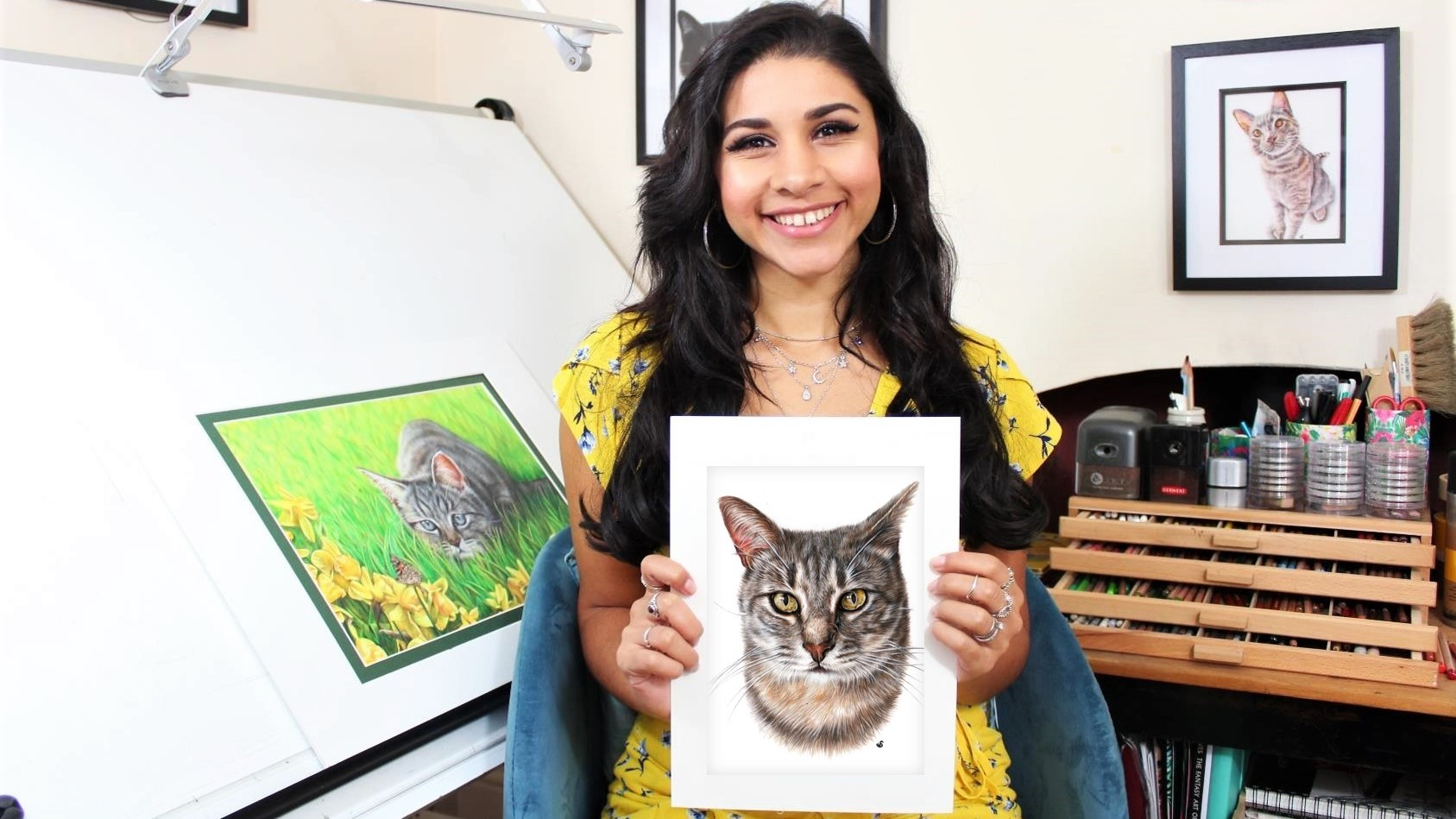 memorial A5 cat portrait