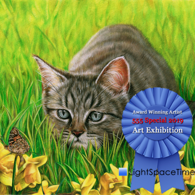 Copy of Light Space Time - 555 Special Exhibition summer 2019, Special Merit, Artist Sema Martin 'The Kitten and the Butterfly'