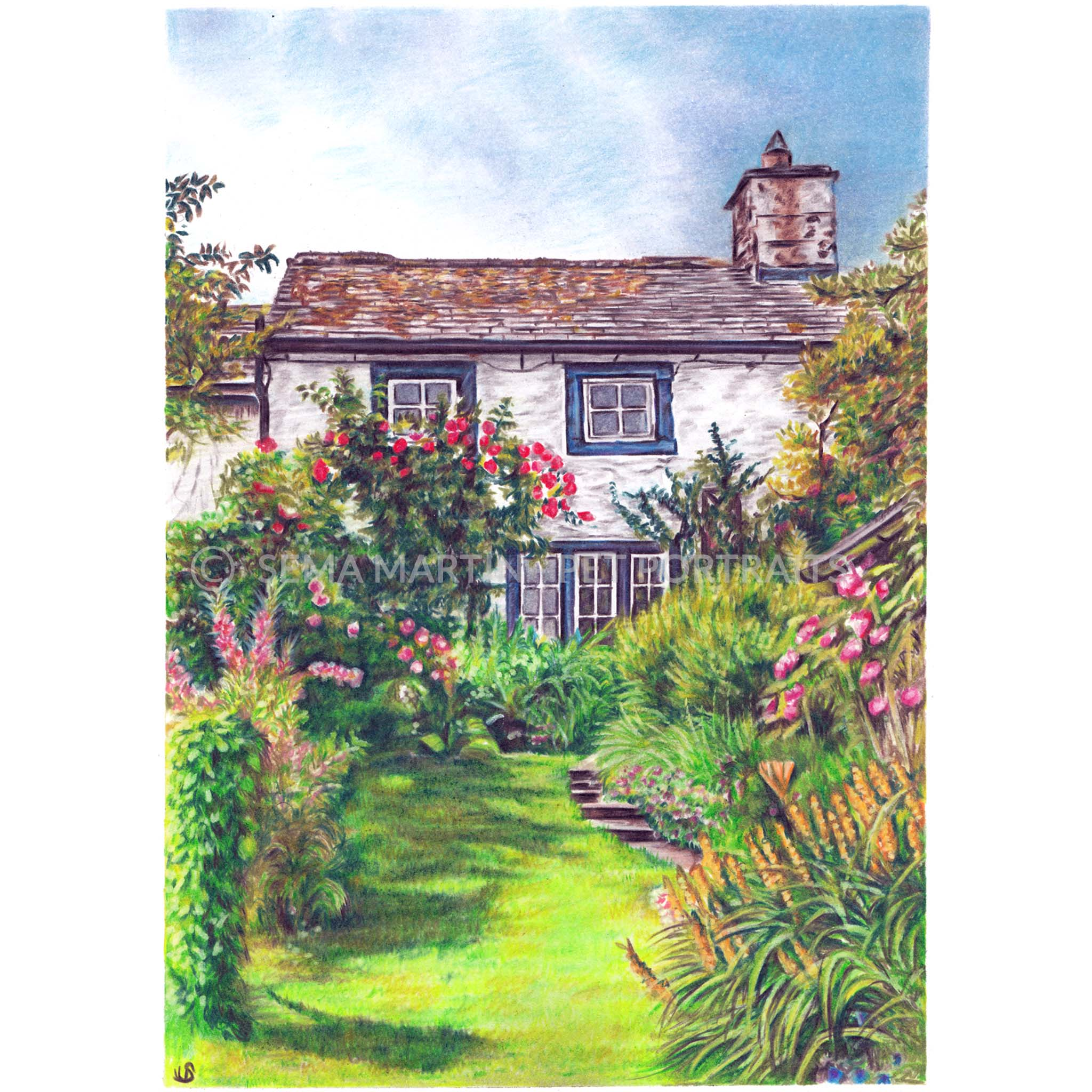 'Hunters Cottage' - UK, 8.3 x 11.7 inches, 2019
