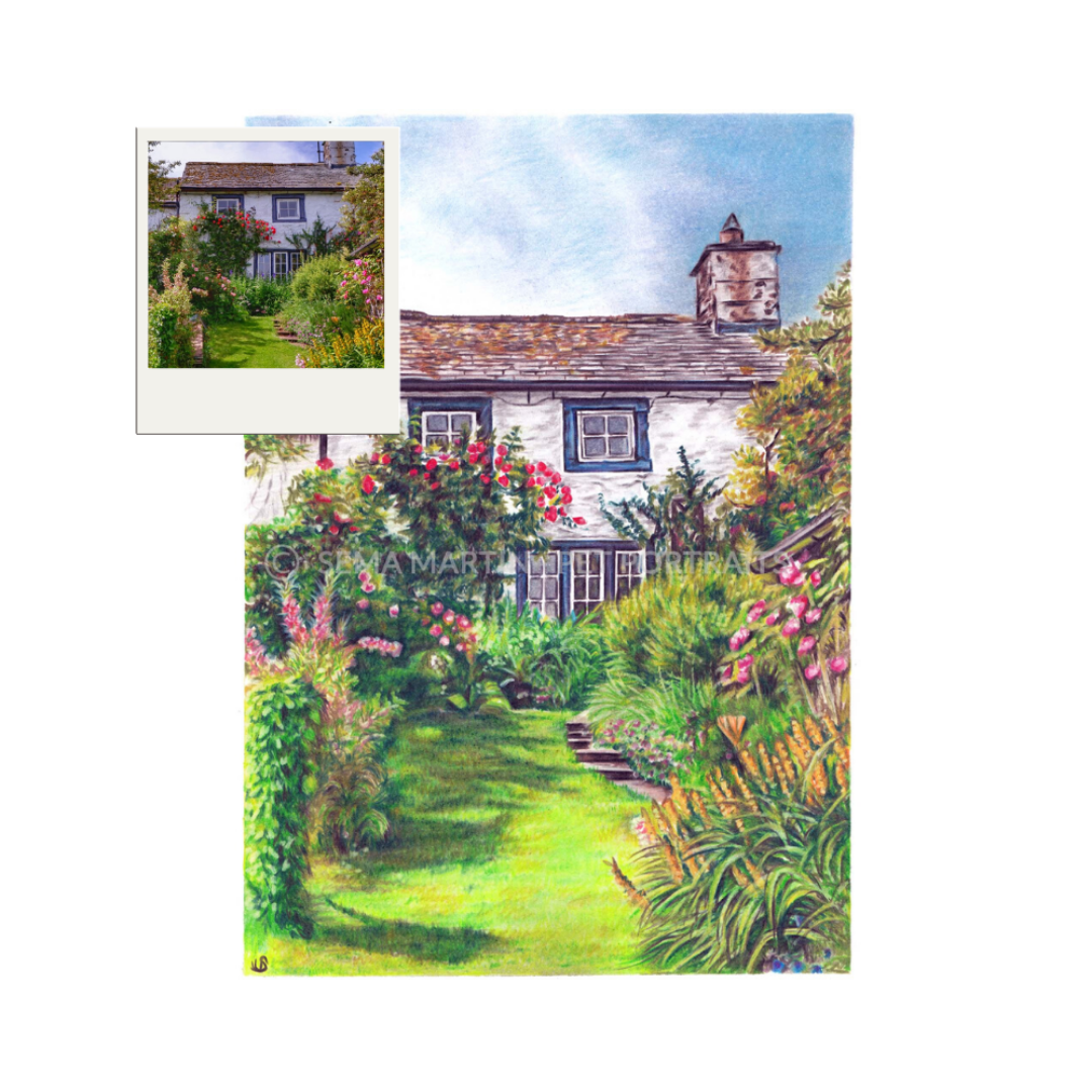 Realistic Custom Colour Pencil Landscape Drawings Of Your Home By Award Winning Artist Sema Martin Artist Sema Martin