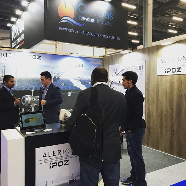 Onsite at #OffshoreEurope today - this has been our first time attending the conference and it's been truly amazing. Great networking great conversations listening and learning. Showcasing our new partnership with #AlerionTechnologies Spain based #UAV #edgecomputing specialists with their #WindTurbine #drone inspector aka the WEGOOI #OE2019 #offshoreinspections #windenergy #windinspections