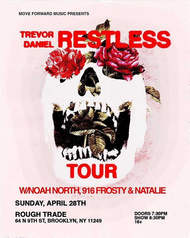 Come see me play this Sunday at @iamtrevordaniel Restless Tour in NYC⚡️💫 s/o my dj: @lildov__