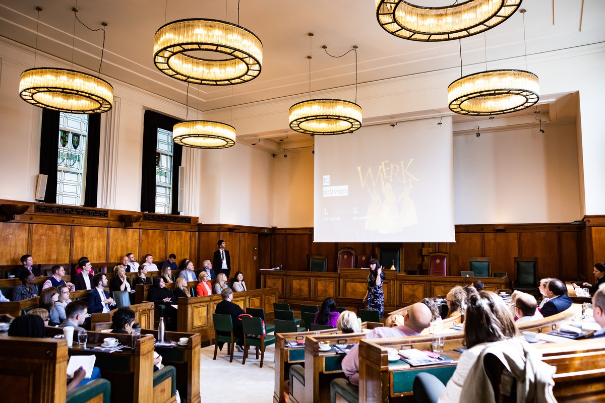 This is where it's happening - the Council Chamber at the fantastic  Town Hall Hotel  in Bethnal Green, near Shoreditch.