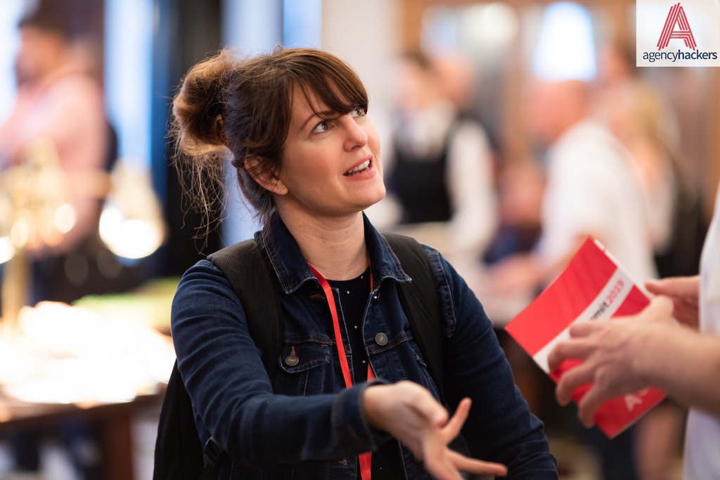 """""""Great speakers and a brilliant format. Agency Hackers lets you get out of the office and meet people who understand the journey you're on.""""  Kelly Molson  –  Rubber Cheese"""