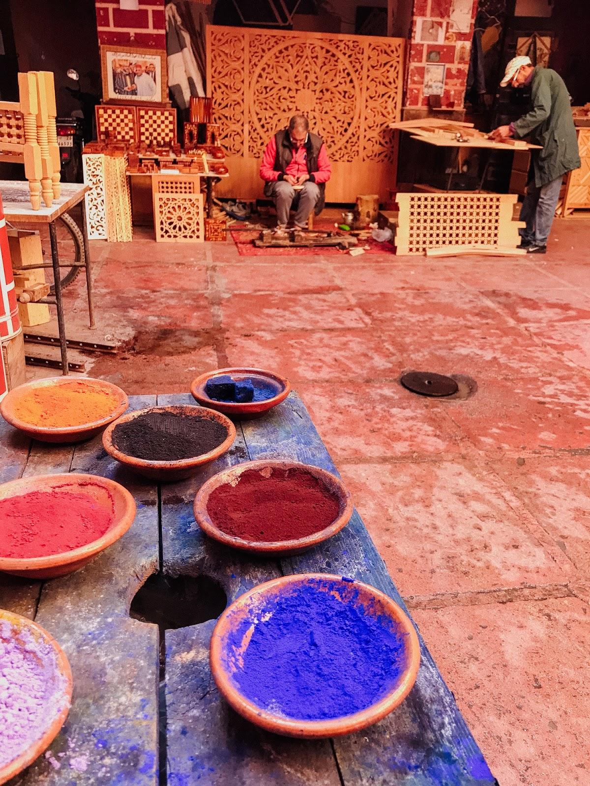dye pigments, Marrakech