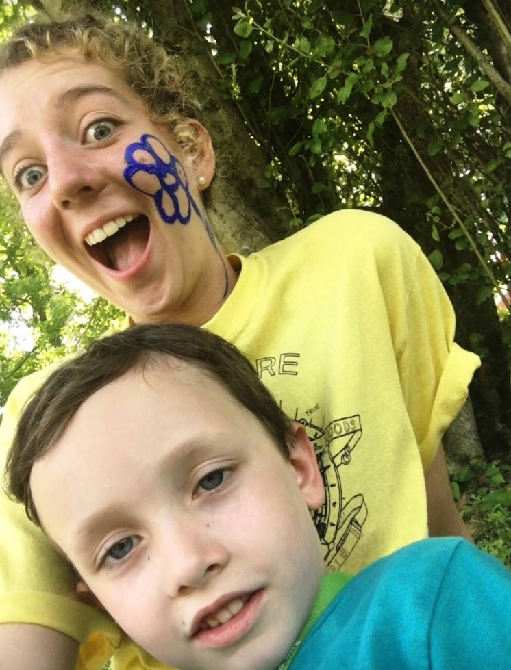 Madison Fisher volunteers during Art and Science in the Woods