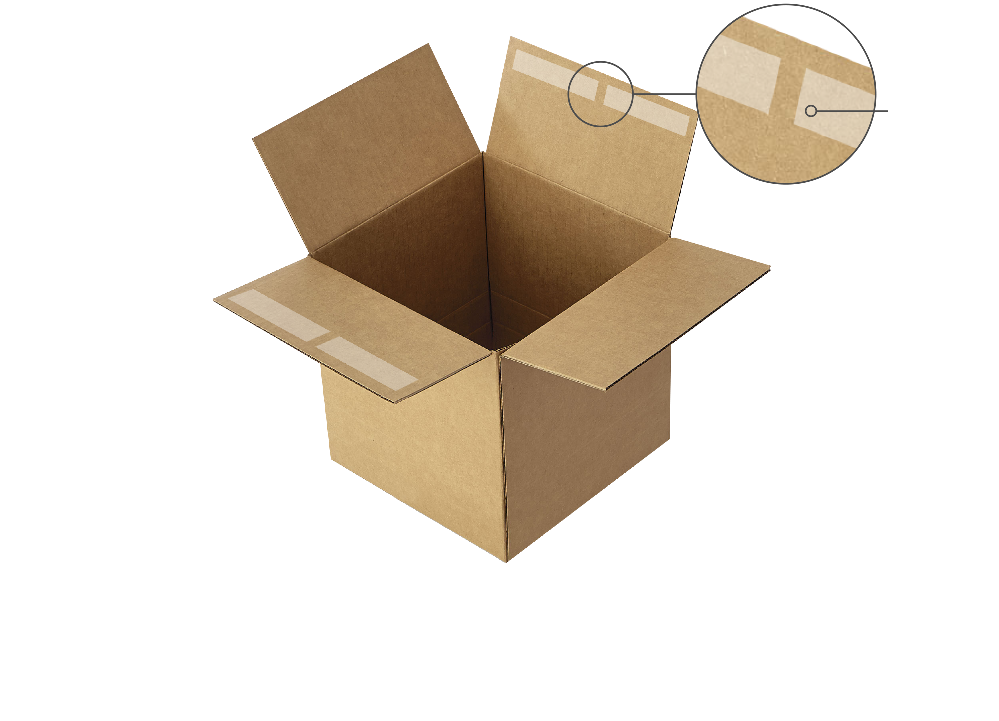 Seal cases and cartons. - Did we mention our case seal Adhesive Squares bond strongly with boxes? Super strong adhesion ensures everything stays in place. Nothing can break this bond!
