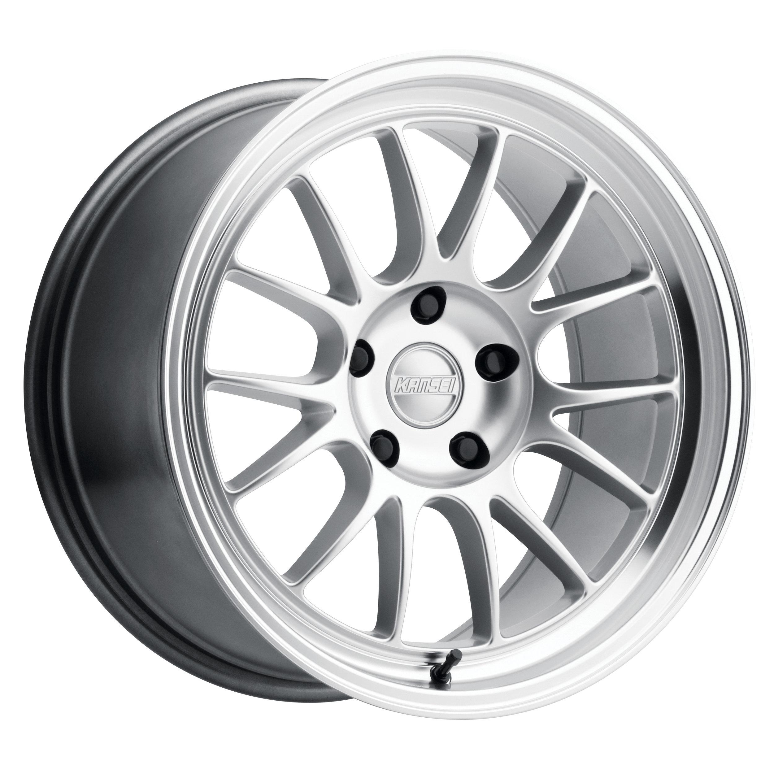 Corsa - 18x9.5 - Hyper silver w/ Polished Lip.
