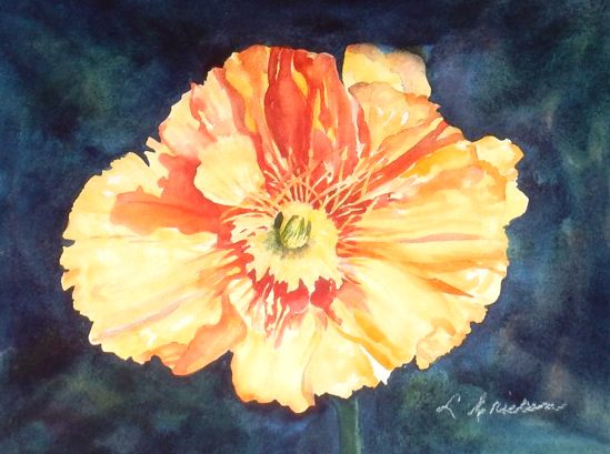 Yellow Tulip -watercolor
