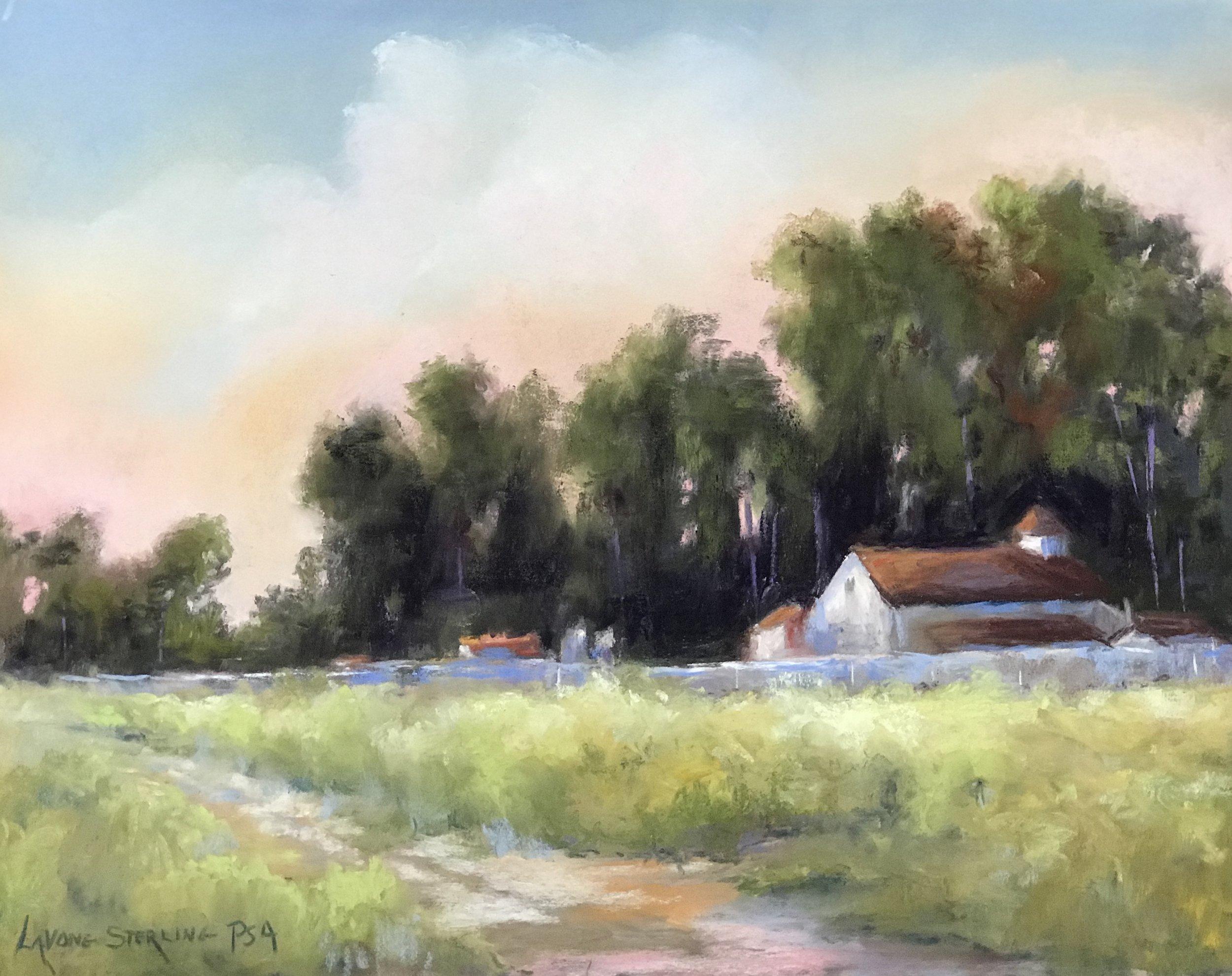 Down on the Farm - pastel