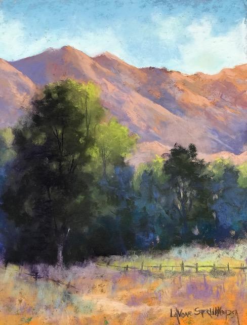 September Hills - pastel