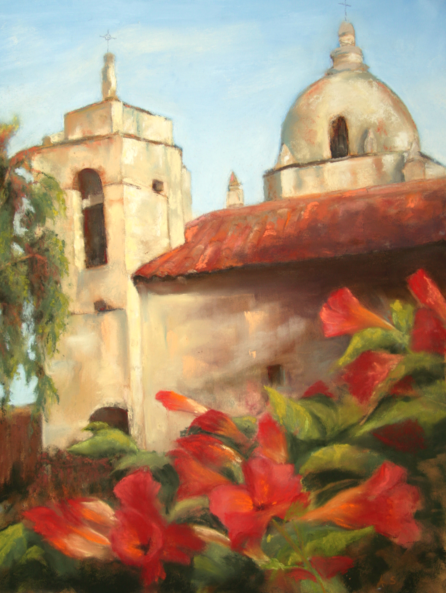 Dome and Vines - pastel