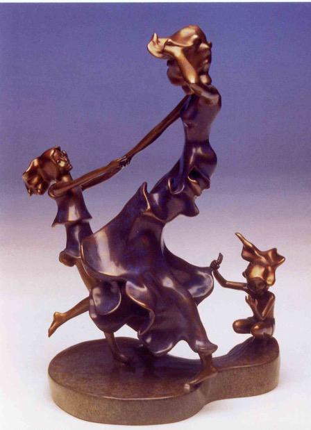 Playful Tide - bronze