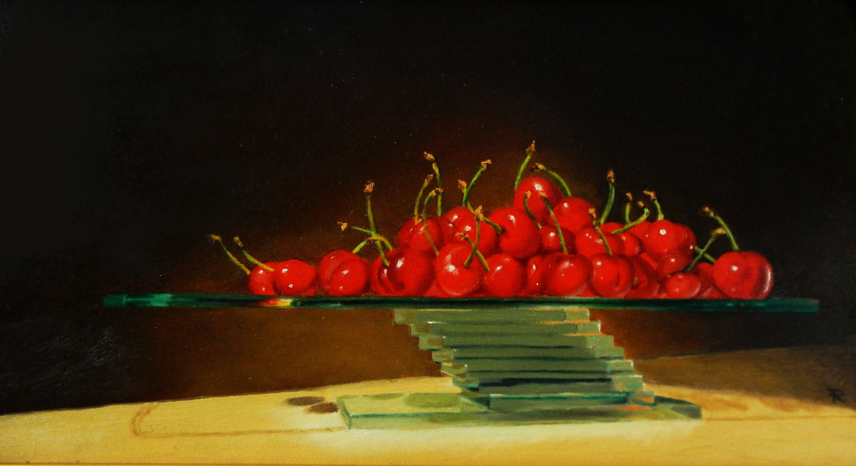 Cherries on Glass