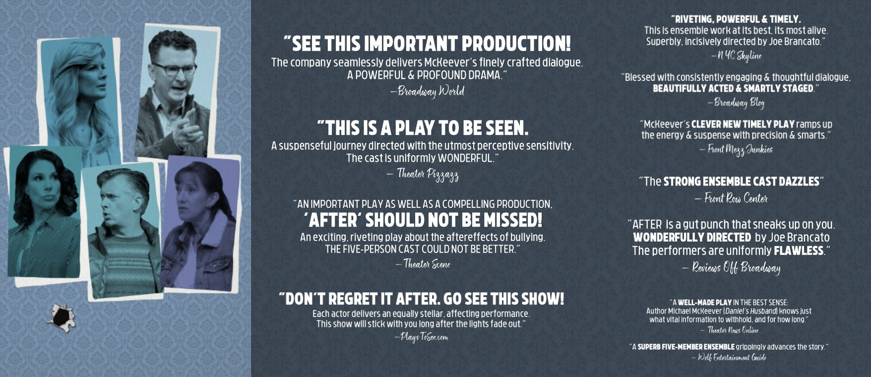 After - The Play at 59E59 Theaters; March 12 - April 14