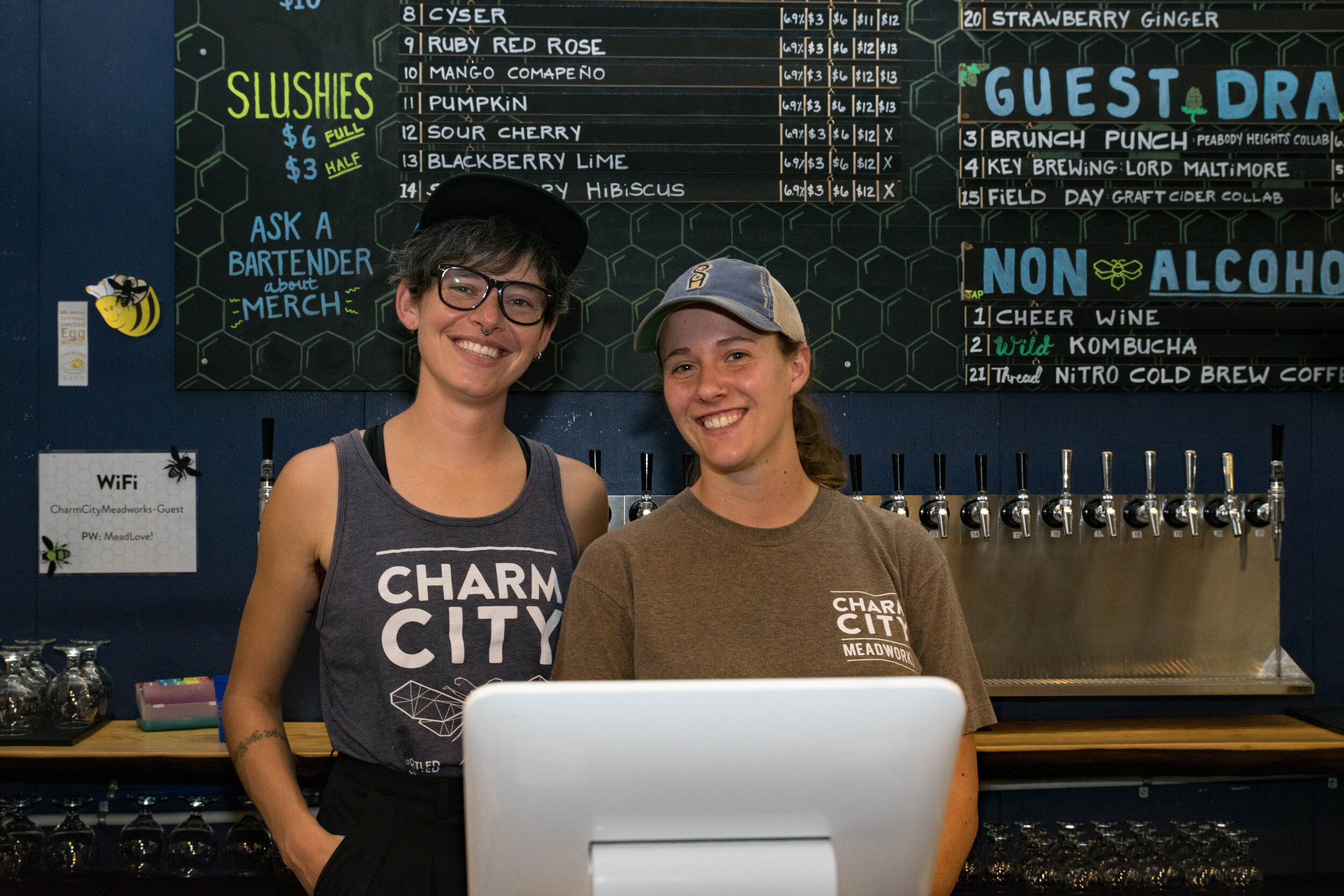 Miriam Cummons and Charm City Meadworks staff