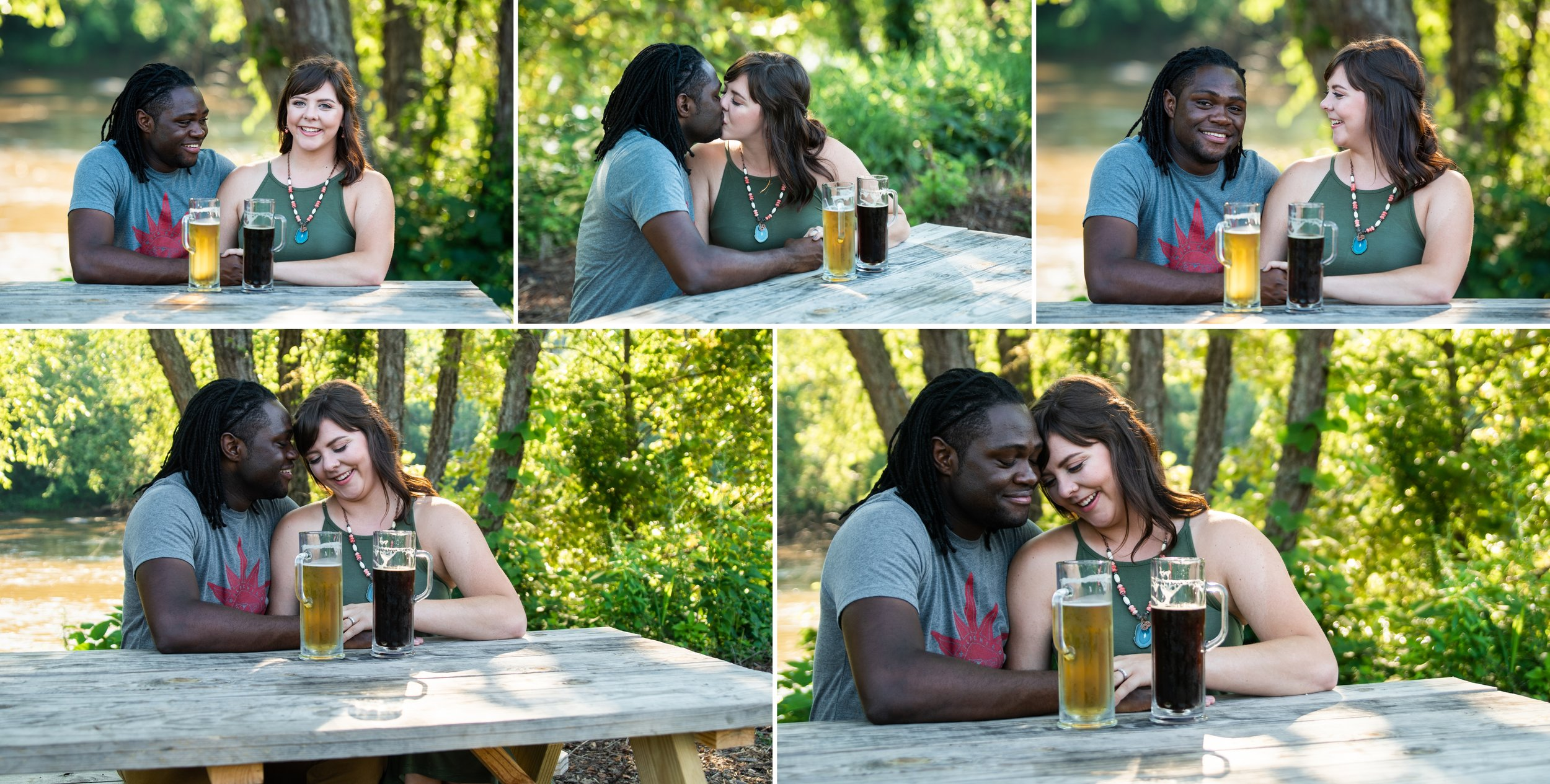 Brewery Engagement Photos in Asheville, NC