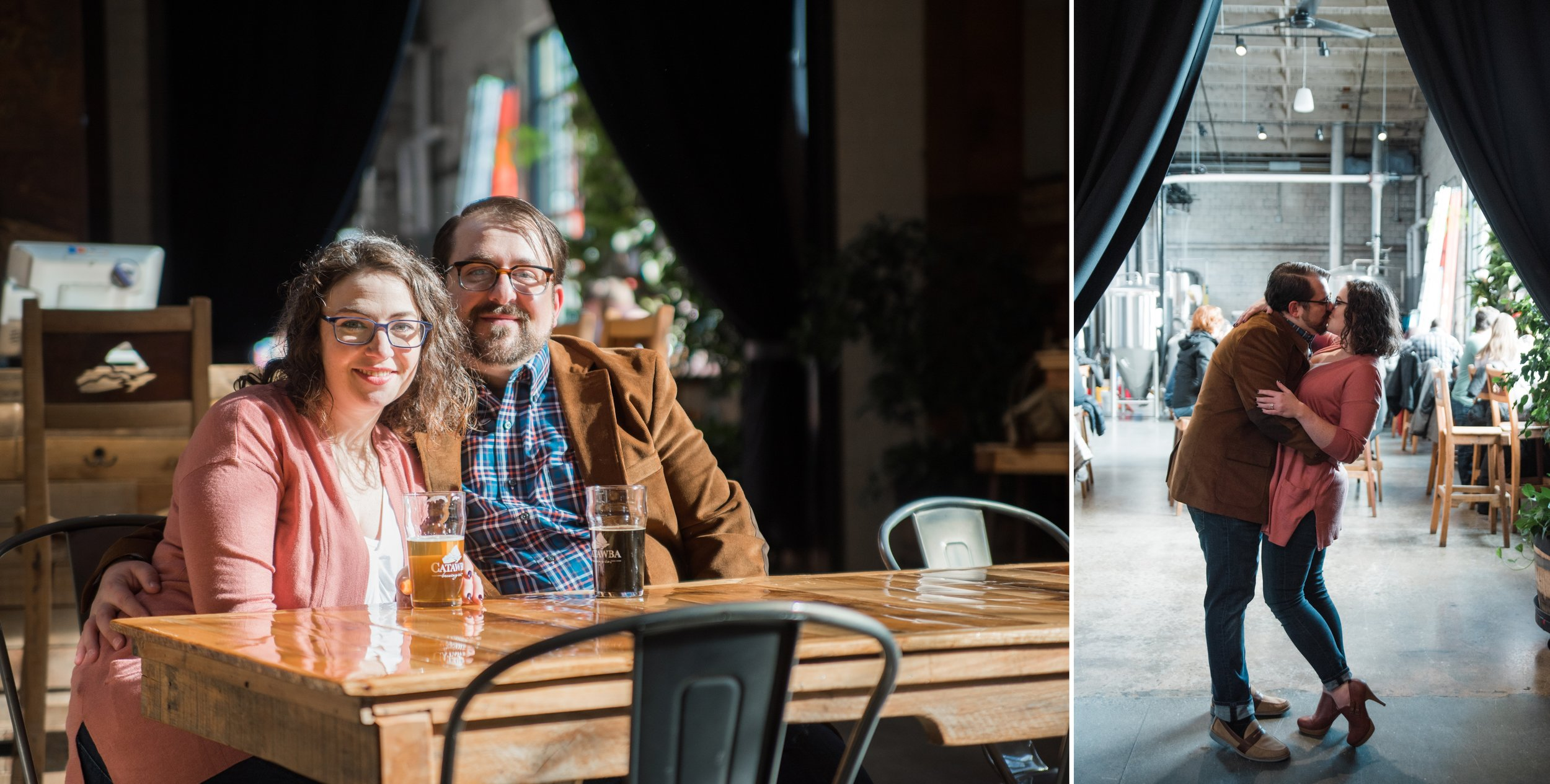 Engagement Photos at Catawba Brewing Company South Slope