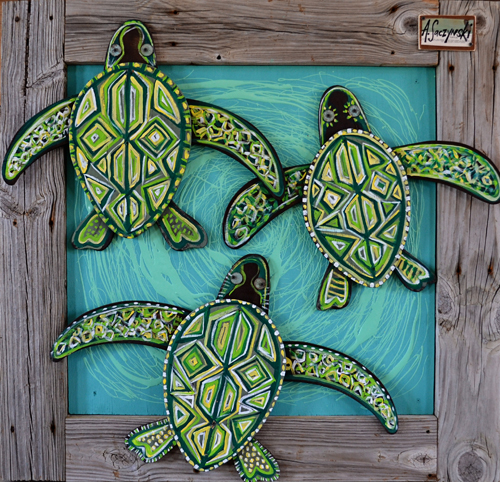 3 Little Turtles | 42x40 inches