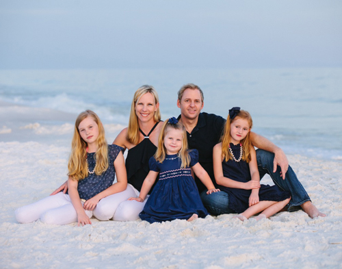 Jason + Heather Baker with their girls