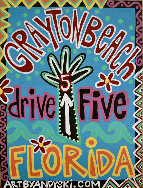 Grayton Beach Drive Five sign