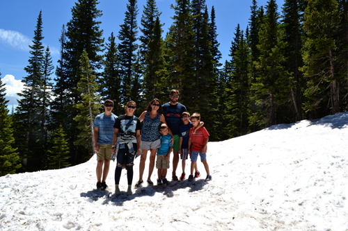 our family in Rocky Mountain National Park