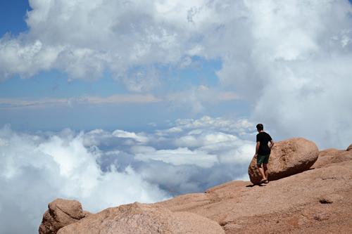 Pikes Peak (I wasn't a fan of Nathan walking this close to the edge)
