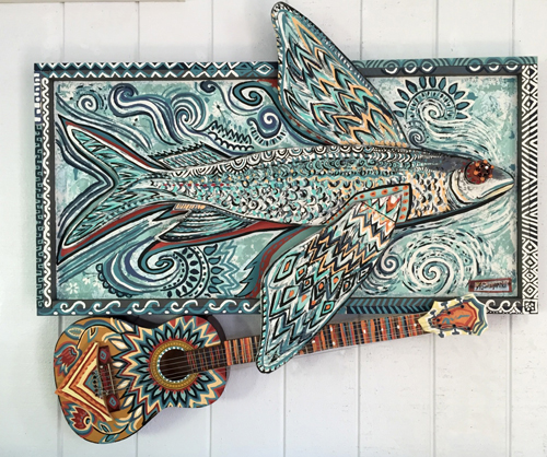 Flying Fish | 51x46 inches | $1800